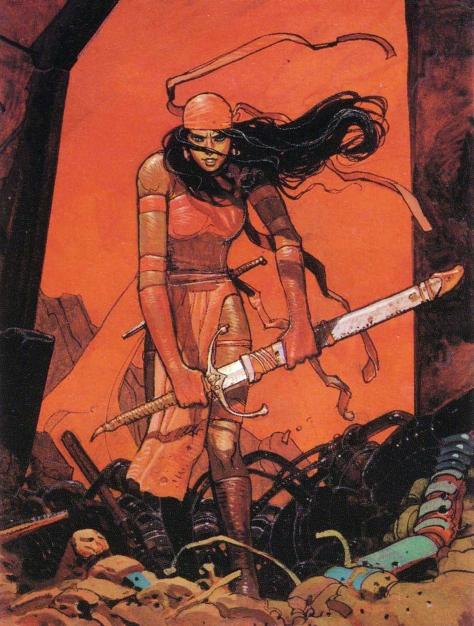 Elektra, 1990. Artwork by Moebius.