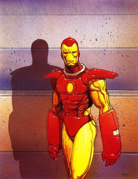 Iron Man, 1990. Artwork by Moebius.