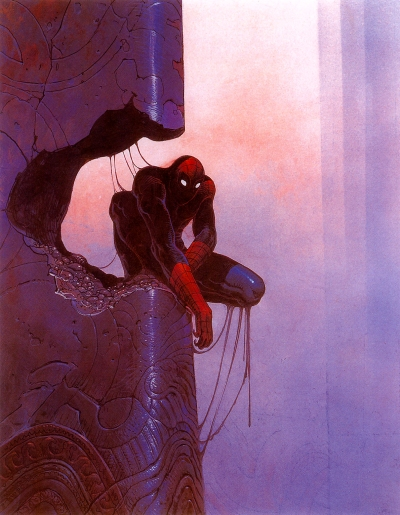 Spider-Man (1990). Artwork by Moebius.