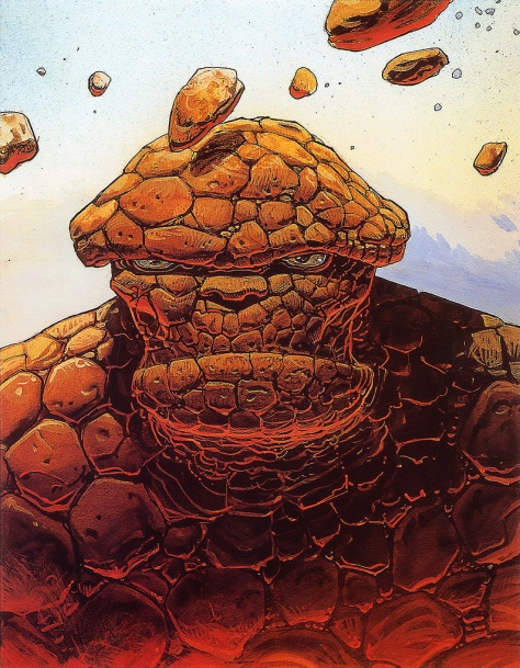 The Thing, 1990. Artwork by Moebius.