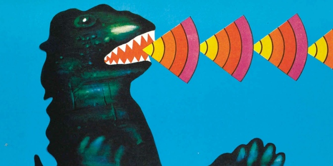 Godzilla vs Gigan Polish film poster (1977)
