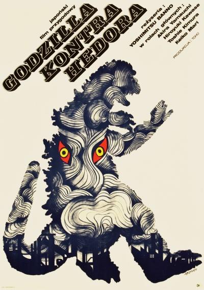 Godzilla vs Hedorah poster by Zbobrowski