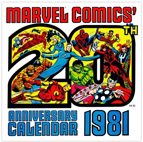 Marvel 20th Anniversary Calendar 1981