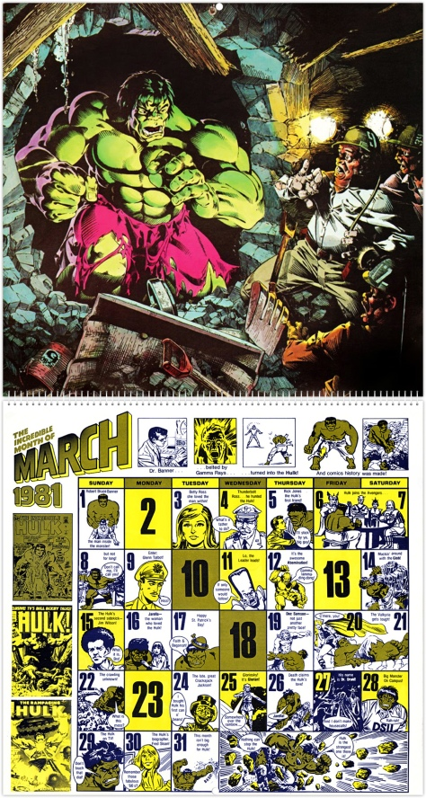 Marvel 20th Anniversary Calendar 1981, March