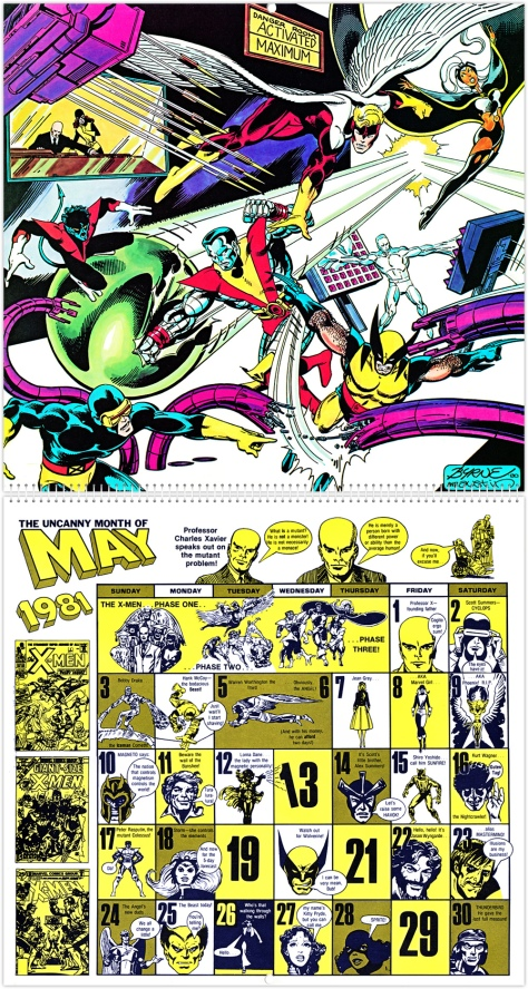 Marvel 20th Anniversary Calendar 1981, May