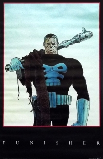 The Punisher poster 1990. Artwork by Moebius