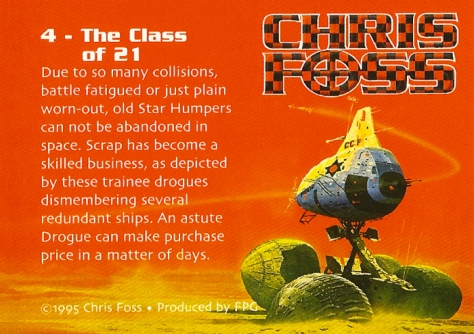 Chris Foss Trading Cards #4