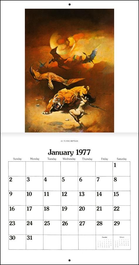 Frank Frazetta Calendar 1977