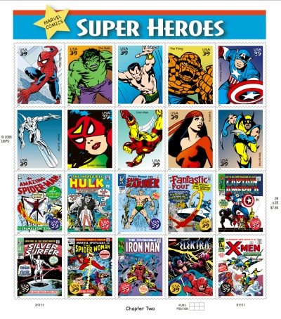 Marvel Comics Stamps 2007