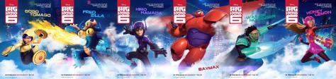 Big Hero 6 character posters
