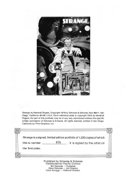 Strange Portfolio by Marshall Rogers inside cover