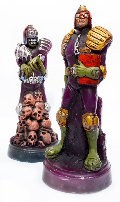 Judge Dredd and Judge Death candles