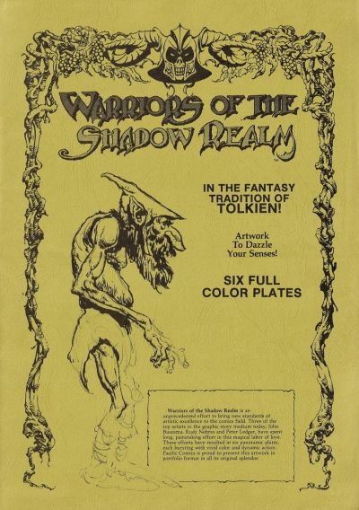 Warriors of the Shadow Realm Portfolio, cover