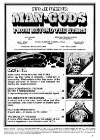 Man-Gods from Beyond the Stars, contents page
