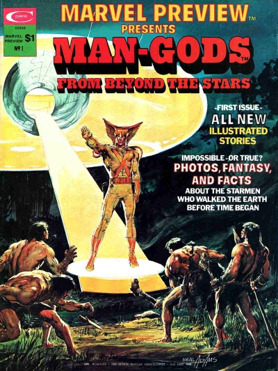 Man-Gods from Beyond the Stars, front cover