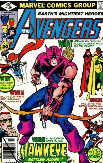 The Avengers #189