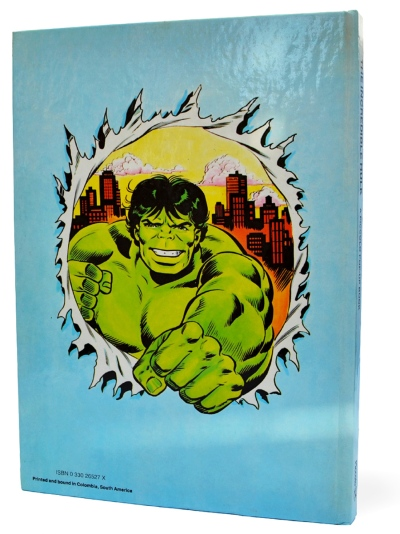 The Incredible Hulk Pop-up Book, back cover