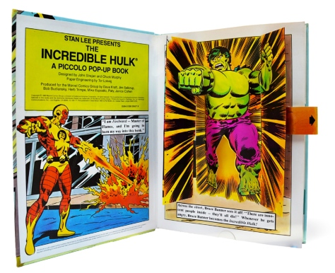 The Incredible Hulk Pop-up Book, pages 1 and 2