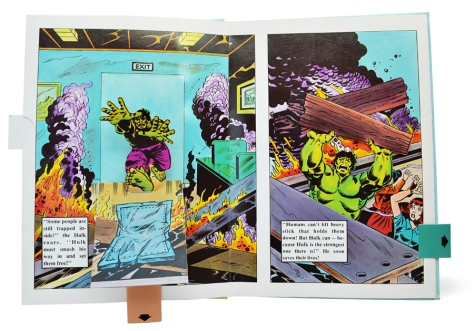The Incredible Hulk Pop-up Book, pages 5 and 6