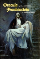 The cover to Doubleday books Dracula and Frankenstein, from 1973