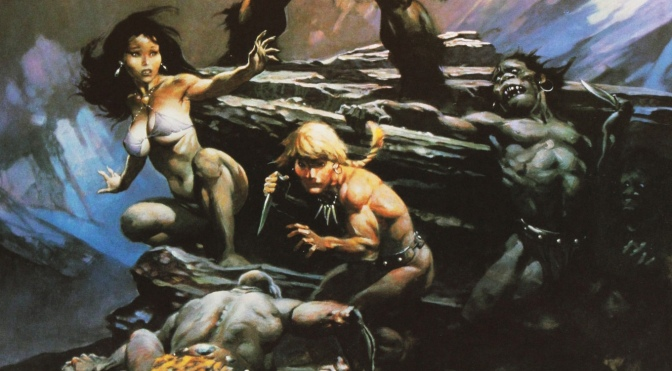 Frazetta II: The Legend Continues Trading Cards #81-90, and chase cards (1993)
