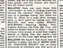 Stan Lee's announcement from the July 1966 Bullpen Bulletins