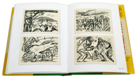 Pages 186 and 187: some of the original pencil sketches by Wood and Powell.