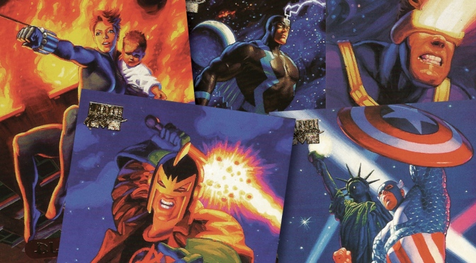 Marvel Masterpieces 1994 Edition Trading Cards by The Hildebrandt Brothers, cards #1-25