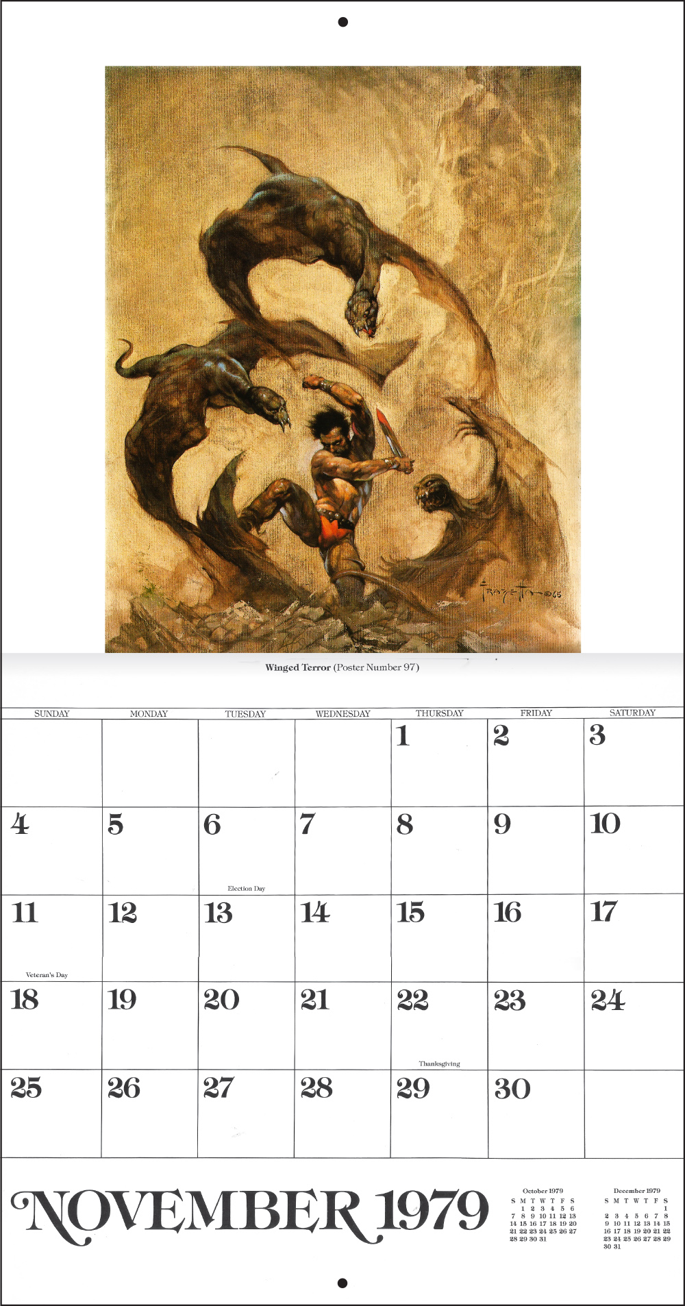The Frank Frazetta Calendar 1979 Tain T The Meat It S The Humanity