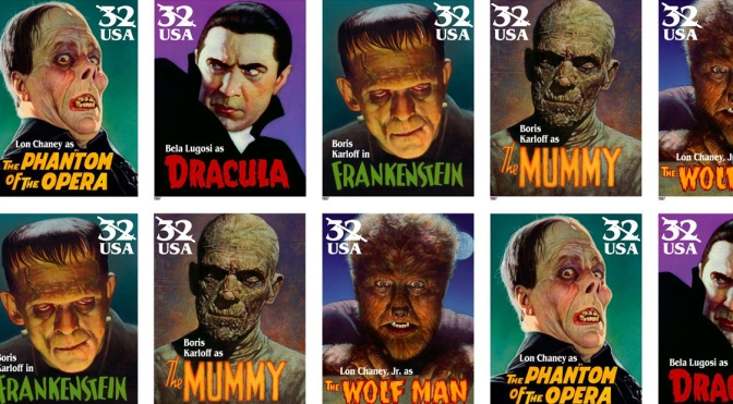 Classic Movie Monster stamps (1997)