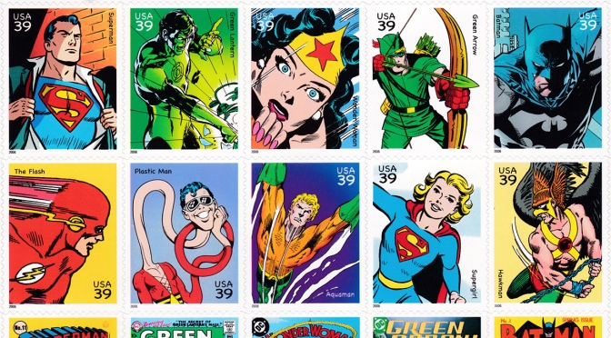 DC Comics Super Heroes stamps (2006)