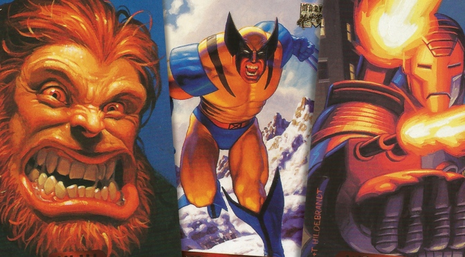 Marvel Masterpieces 1994 Edition Trading Cards by The Hildebrandt Brothers, cards #121-140