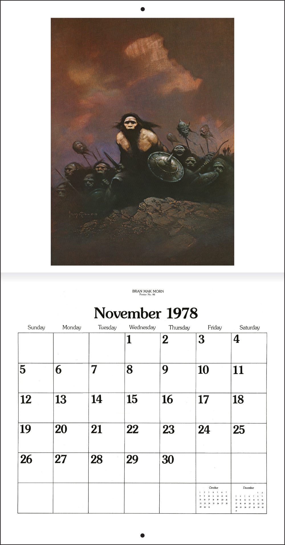 The Frank Frazetta Calendar 1978 Tain T The Meat It S The Humanity