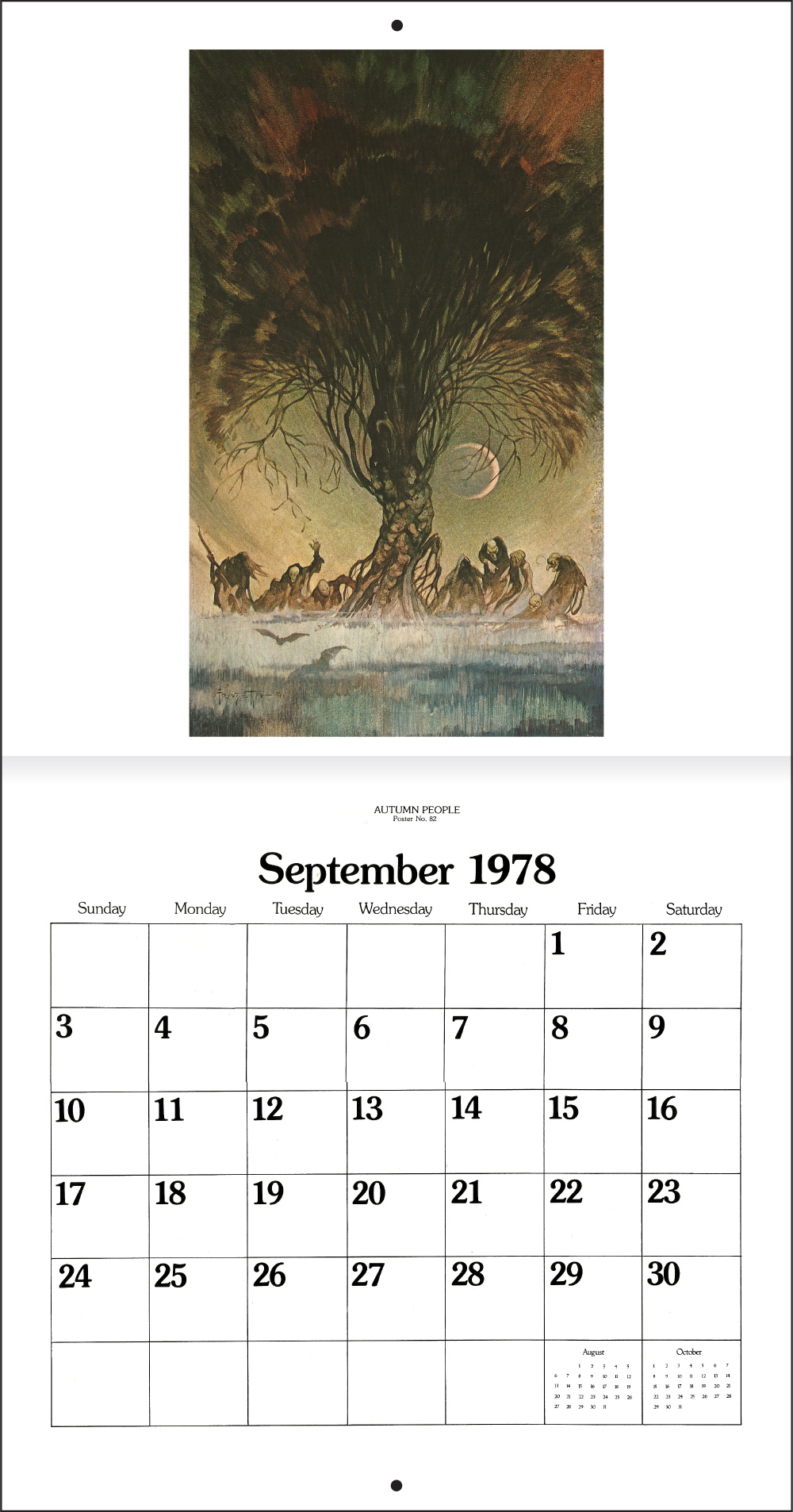 1978 Calendar September.The Frank Frazetta Calendar 1978 Tain T The Meat It S The Humanity