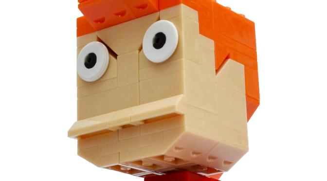 Fry from Futurama, by Mega Construx